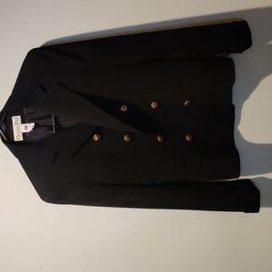 CHRISTIAN DIOR black blazer. Size 6. Vintage